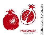 sketched fruit illustration of... | Shutterstock .eps vector #391907689