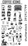 coffee icons set. big pack   Shutterstock .eps vector #391917799