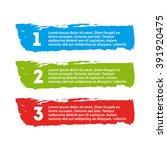 brush strokes infographics... | Shutterstock .eps vector #391920475