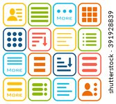 hamburger menu icons set. bar... | Shutterstock .eps vector #391928839