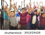 students children cheerful...   Shutterstock . vector #391929439