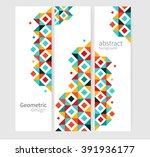 geometric background abstract... | Shutterstock .eps vector #391936177