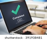 completed accomplishment... | Shutterstock . vector #391938481