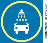 car wash vector icon. style is... | Shutterstock .eps vector #391942969