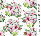 floral pattern with white... | Shutterstock . vector #391950169