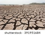 cracked dry land without water... | Shutterstock . vector #391951684