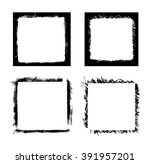 black paint distressed frame... | Shutterstock . vector #391957201