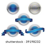 medallions  scrolls  ribbons  ... | Shutterstock .eps vector #39198232