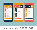 smartphones icon vector flat