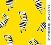 cartoon zebra seamless pattern | Shutterstock .eps vector #391995799