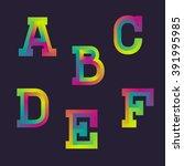 multi colored gradient blended... | Shutterstock .eps vector #391995985