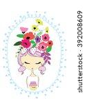 girl | Shutterstock .eps vector #392008609