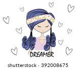 girl | Shutterstock .eps vector #392008675