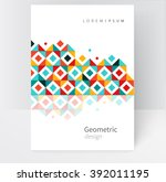 brochure  leaflet  flyer  cover ... | Shutterstock .eps vector #392011195
