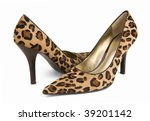 Leopard Print High Shoes On A...