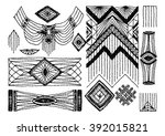 set the eastern indian jewelry  ... | Shutterstock .eps vector #392015821