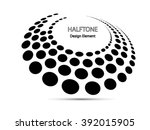 black abstract halftone logo... | Shutterstock .eps vector #392015905