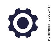 Постер, плакат: Cog wheel Icon Vector