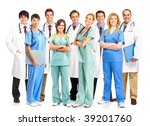 smiling medical doctors with... | Shutterstock . vector #39201760