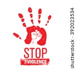 stop the violence stamp.... | Shutterstock .eps vector #392023534