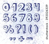 hand drawn vector numbers | Shutterstock .eps vector #392026339
