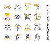 business teamwork icons | Shutterstock .eps vector #392037115