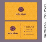 visiting card and business card ... | Shutterstock .eps vector #392049784