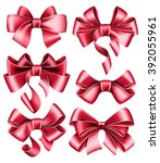 six red bows | Shutterstock .eps vector #392055961