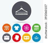 wifi  like counter and calendar ... | Shutterstock .eps vector #392060107