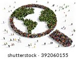 large and diverse group of...   Shutterstock . vector #392060155