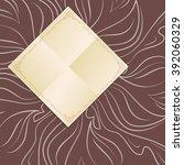 decorative square frame  napkin ... | Shutterstock .eps vector #392060329