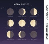 moon phases | Shutterstock .eps vector #392076091