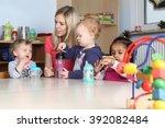 some kindergarten or nursery... | Shutterstock . vector #392082484