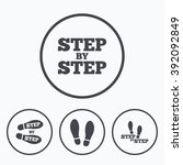 step by step icons. footprint... | Shutterstock .eps vector #392092849