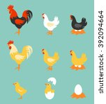 a colorful farm birds... | Shutterstock .eps vector #392094664
