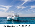 yachts in the red sea | Shutterstock . vector #392095381