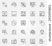 video conference icons set  ... | Shutterstock .eps vector #392095801