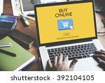 buy online business digital... | Shutterstock . vector #392104105