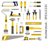 construction repair tools flat... | Shutterstock .eps vector #392111131