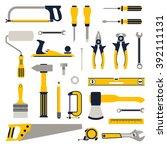construction repair tools flat... | Shutterstock .eps vector #392111131