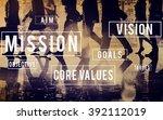 mission motivation objective... | Shutterstock . vector #392112019