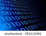 binary code computer virus  | Shutterstock . vector #392112481