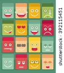 set of emoticons. set of emoji. ... | Shutterstock .eps vector #392115451