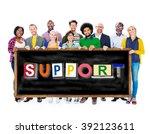 support collaboration team... | Shutterstock . vector #392123611