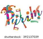 purim festive party... | Shutterstock .eps vector #392137039