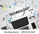 technology connection... | Shutterstock . vector #392141365