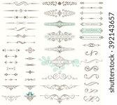 vector set of ornate... | Shutterstock .eps vector #392143657