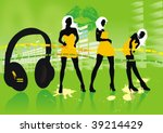 music background  with... | Shutterstock .eps vector #39214429