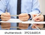 attorney is commenting contract ... | Shutterstock . vector #392166814