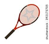 vector illustration. tennis... | Shutterstock .eps vector #392173705